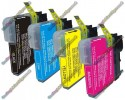 1 Set of Premium Quality Brother LC1100 / LC980 Compatible Multipack Ink Cartridges