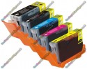 1 Set of Premium Quality Canon Compatible PGI-5 / CLI-8 Multipack Ink Cartridges with Chip (5)