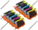 2 Set of Premium Quality Canon Compatible PGI-5 / CLI-8 Multipack Ink Cartridges with Chip (10)