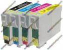 1 Set of Premium Quality T0715 Compatible Multipack Ink Cartridges for Epson - T0711->T0714