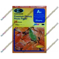 135gsm Gloss A4 Self Adhesive Premium Glossy Photo Paper Sticker Label (Packs of 25) Sumvision