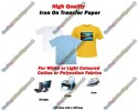 High Quality A4 Iron On T Shirt Transfer Paper for Light Coloured Fabrics (30 Sheets)